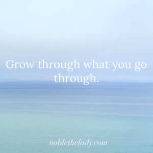 Grow through what you go through.