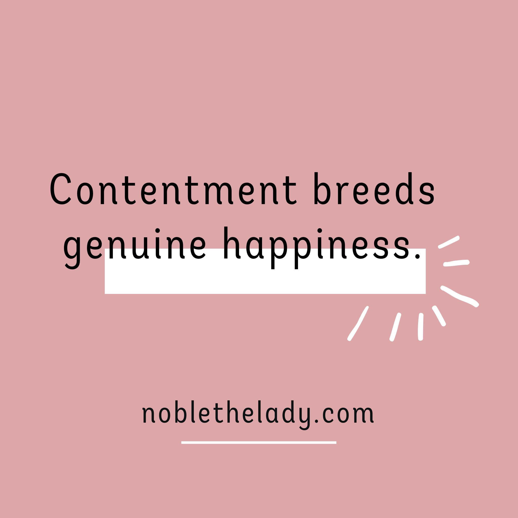 Contentment.